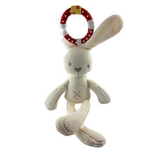 1pcs New bear / rabbit toy newborn Appease pendant cute plush baby carriage bed bell height 22cm for 0M+