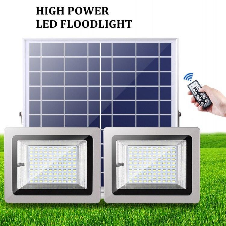 36W 60W 80W 100W SMD5730 éclairage LED LED capteur à énergie solaire lumière de sécurité extérieure jardin lampe d'inondation étanche blanc froid - 5