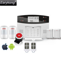 Free Shipping Wireless Home Burglar App PSTN GSM Alarm System Support English Russian Spanish France Portuguese