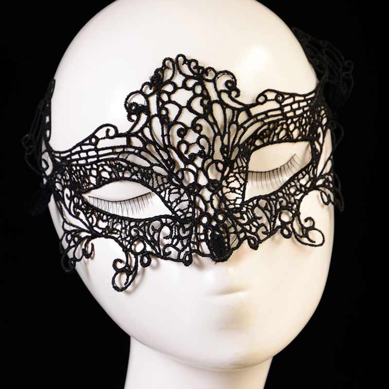 aliexpresscom buy 6 style choose sexy black lace mask halloween eye face masks for masquerade party mask anonymous nightclub queen female masque from - Black Eye Mask Halloween