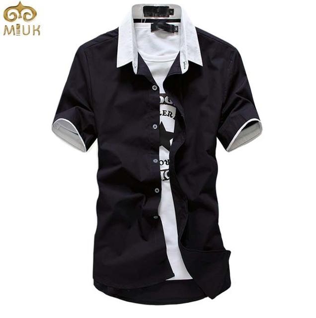 De gran Tamaño Camisa Masculina XXXL XXL Marca 10 Color Sólido Negro blanco Azul Verde Hombres Camiseta de Manga Corta Camisa de Los Hombres 11.11 2017 nueva