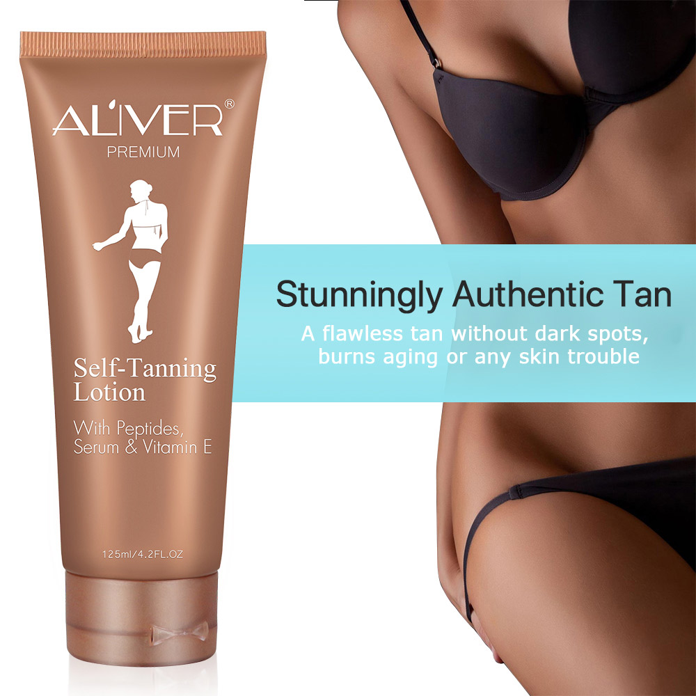 Long-lasting Self-Tanning Lotion With Peptides Serum & Vitamin E, No Need For Sun Exposure, Automatic Bronzer,Latin Dance Oil