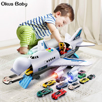 2019 Brand New Music Story Simulation Track Inertia Children's Toy Aircraft Simulation Passenger Plane Boy Baby Music Toy Car