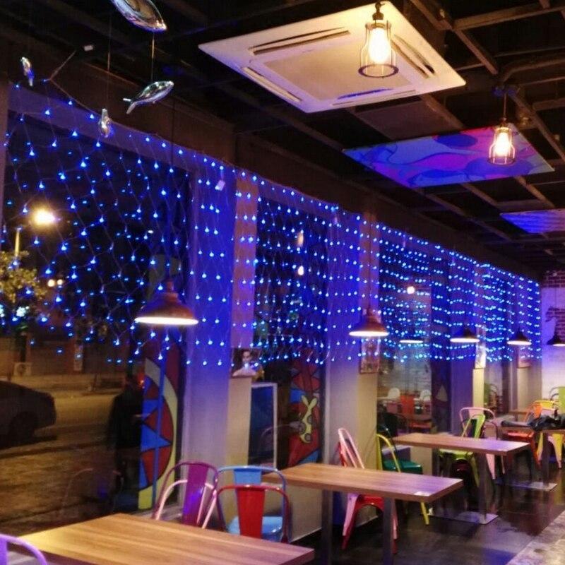 1 м x 10 м Сказочный Сад Строка светодиодных NET огни для елки праздник Park Hotel улицы партия Свадебные украшения 220 В открытый