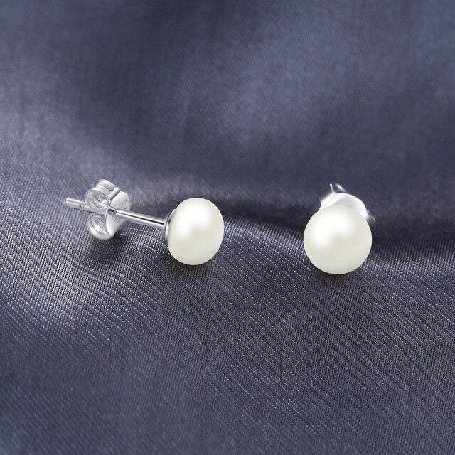 JewelryPalace 6.5mm D'acqua dolce della Perla Della Sfera Pulsante Orecchini con perno In Argento Sterling 925 Gioielleria Raffinata Orecchini Per Le Donne