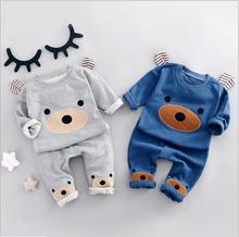 Spring Kids Clothes Set Baby Boy And Girl Clothes Cotton Cute Pattern Tracksuits Children Clothing Sets