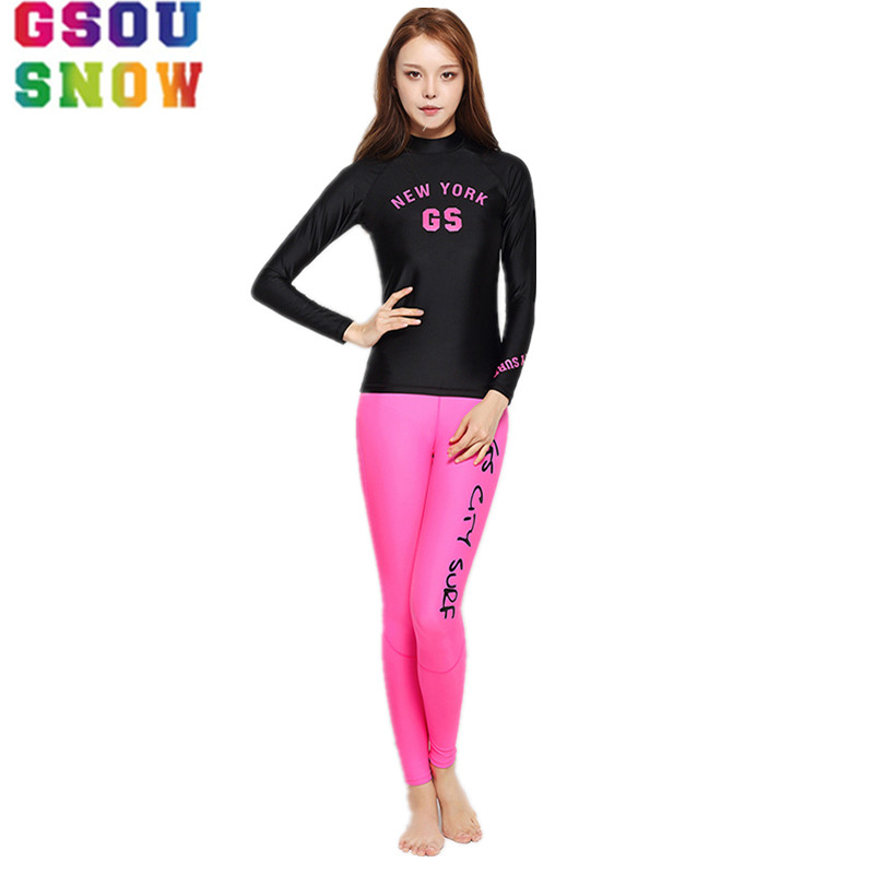 New Arrived Two Piece Women Wetsuit for Swimming Triathlon Swimwear Long Sleeve Quick Dry Rash Guards Beach Surfing Swimsuits подвесная люстра newport 33008 c