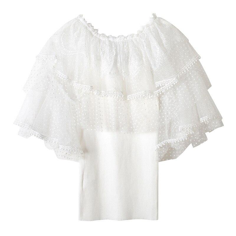 Tejer Nueva T Viento Beige 2018 Princesa A Cultivar Moda Seda Bud Unirse Blanco negro Femenina La Moralidad 7B47Rwq