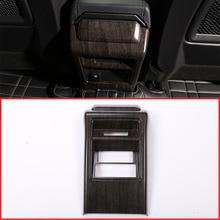 Дубовый Стиль ABS Chrome заднего сиденья Кондиционер Vent рамка Обложка отделка Стикеры для Land Rover Discovery Спорт 2015 + часть автомобиля