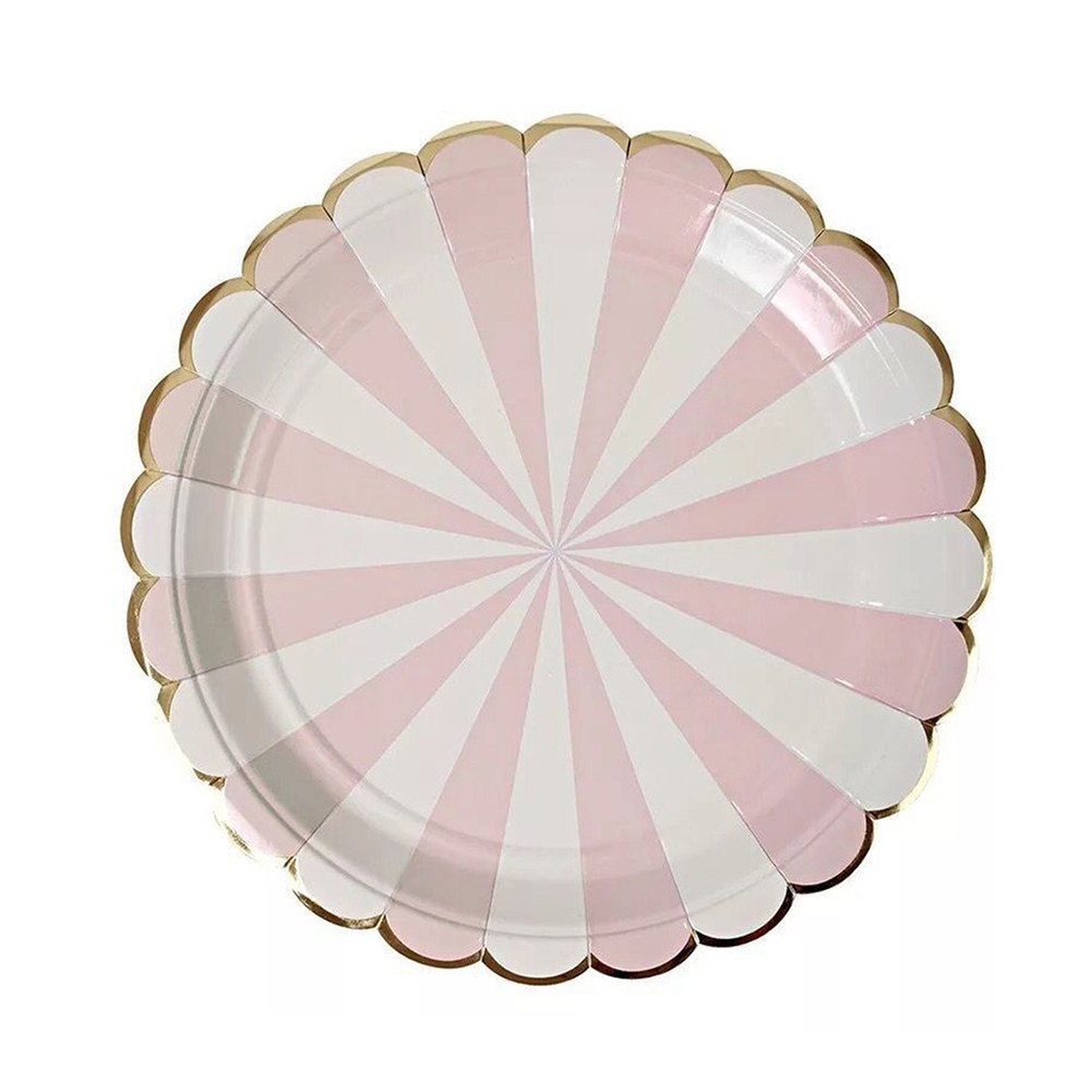 striped paper plates 550 usd shipping get it by this coming saturday - order today with priority mail get it by next tuesday - order today with first class mail  click for details.