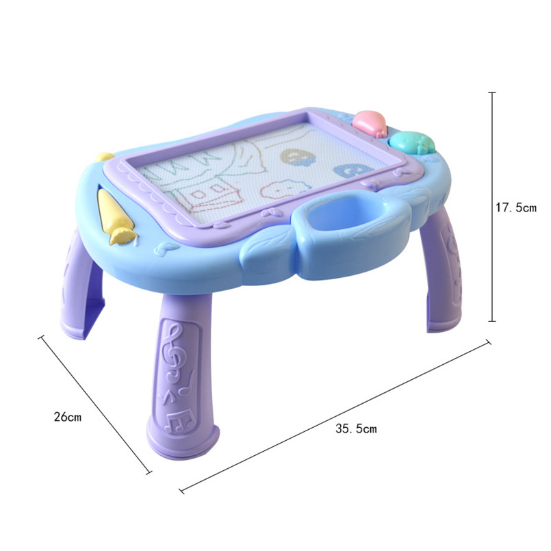 Funny Magnetic Cute Elephant Fish Kids Drawing Board Toy Doodle Writing Pad Blan