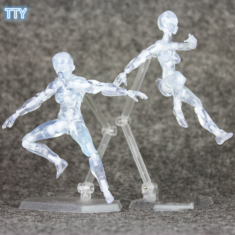 Action & Toy Figures 2017 Shf Artist Movable Limbs Male Female 13cm Pvc Sketch Model Toy Figure Model Mannequin Bjd Art Sketch Draw Action Figures Beautiful And Charming