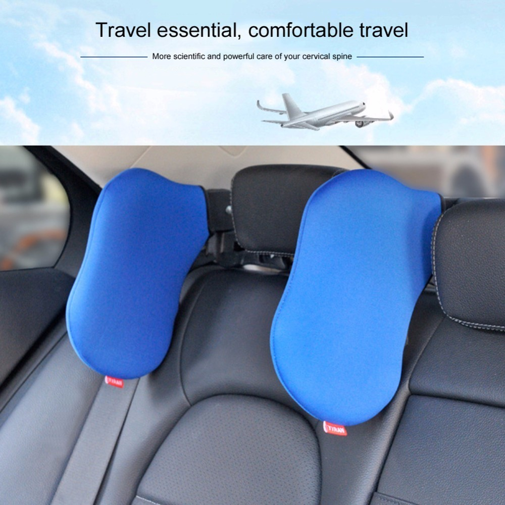 Car Seat Headrest Neck Pillow Rest Seat Headrest Cushion Pad Vehicular Pillow Neck Safety Seat Support for car travel rest sleep stylish vehicle car seat head neck rest cushion pillow red black pair