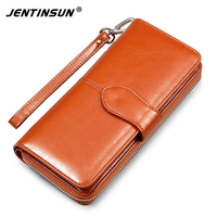Women Wallets Brand Design High Quality Leather Wallet Female Hasp Fashion Long Purses Card Holder Clutch