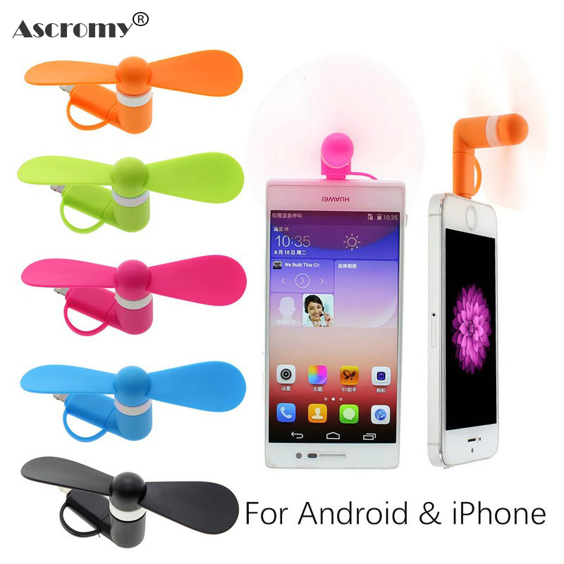 Ascromy Portable Mini Fan Micro USB Cable for iphone 7 5S 6 Xiaomi Huawei Power Bank iphone Charger Android OTG Microusb Free iPhone XS