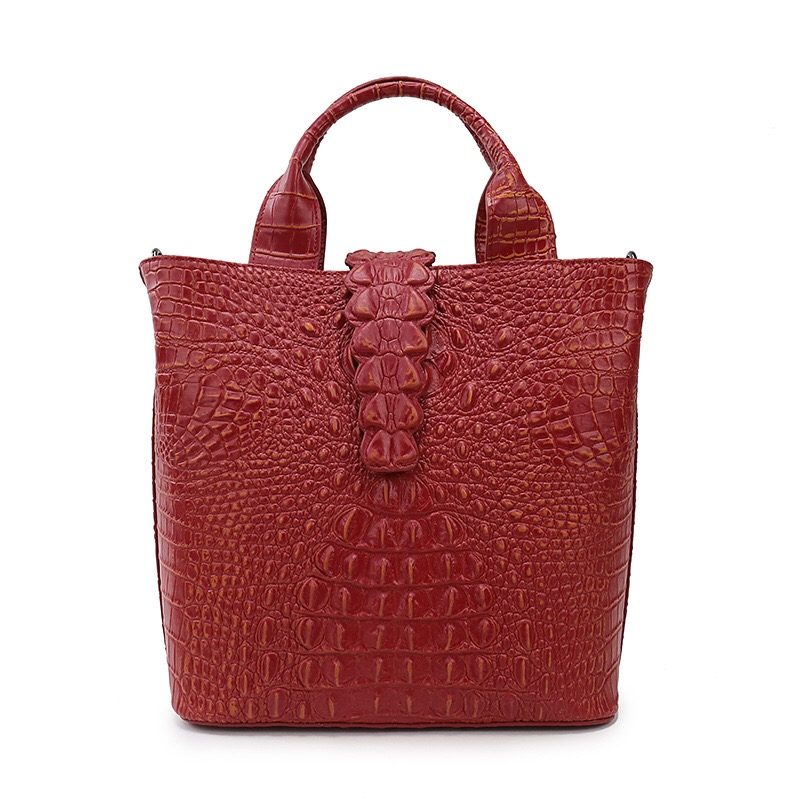 2017 New Fashion Women Handbags Genuine Leather Women Alligator Bags Handbags Women Famous High Quality Brands Designer Totes