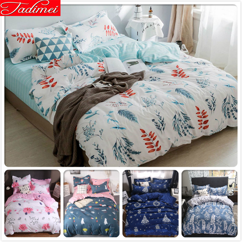 New Fashion Duvet Cover 3/4 pcs Bedding Set Adult Kids Child Soft Bed Linens Single Full Queen King Size 150x200 180x220 200x230New Fashion Duvet Cover 3/4 pcs Bedding Set Adult Kids Child Soft Bed Linens Single Full Queen King Size 150x200 180x220 200x230