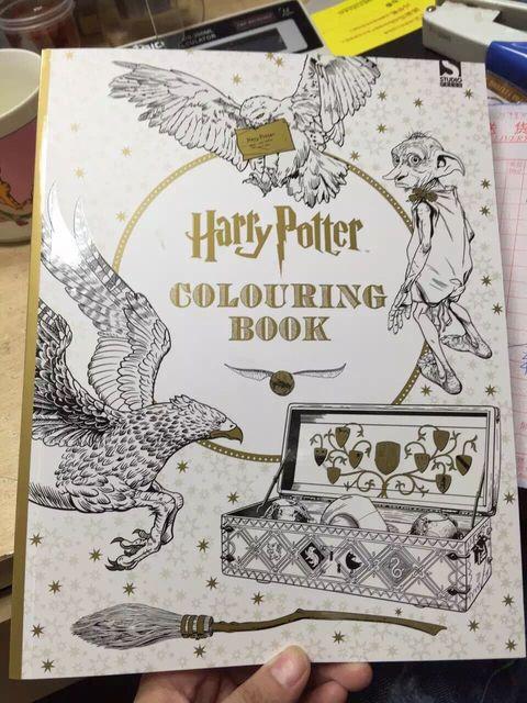 1315 7 De Réduction96 Pages Livre De Coloriage Harry Potter Livres Pour Enfants Série De Jardin Secret Adulte Tuer Le Temps Peinture Livres De