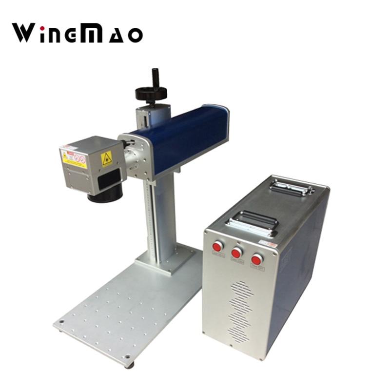 Mini 20W fiber electronic laser marking machine for printed circuit board