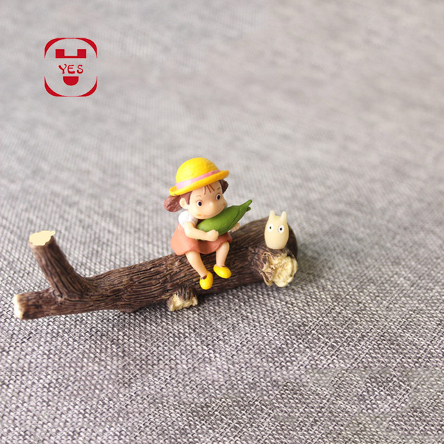 YES My Neighbor Totoro Xiaomei Dead Wood Dry Branches Miniatures Fairy Garden Decoration Resin Crafts DIY Moss Micro Landscape 3