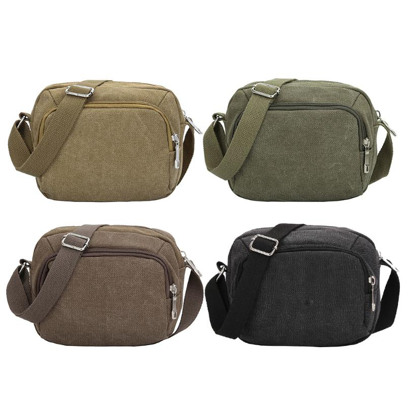 High Quality Men Canvas Bags Casual Travel Men\'s Crossbody Bags Military Army Vintage Messenger Bags Pure Color Shoulder bag augur new men crossbody bag male vintage canvas men s shoulder bag military style high quality messenger bag casual travelling