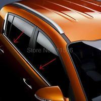 Fit For KIA SPORTAGE 2011 High Quality Stainless Steel Window Sill Belt Trim 4pcs Window Molding Trim Glass Strips