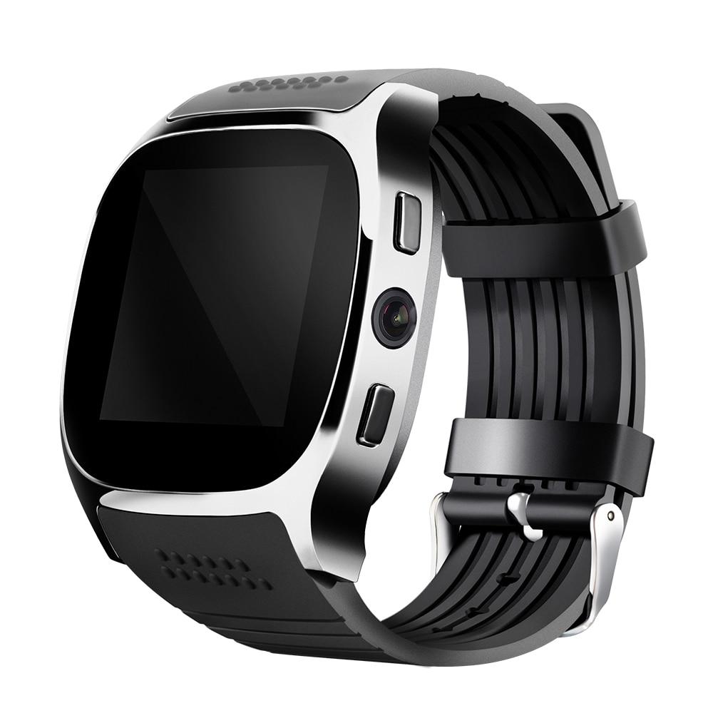 imágenes para TUFEN T8 Bluetooth Reloj Inteligente Con Ranura Para Tarjeta Sim 2.0 MP Reloj de la cámara MTK6261D 380 mah Batería Para Android IOS VS M26 GT08 U8