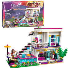 Bela 10498 Friends Livi's Pop Star House Blocks Bricks Toys Girl Game Gift Compatible with Decool Lepin LEGOelids 41135