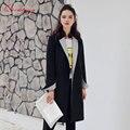 Qunitina 2017 Новая Мода Пальто Для Женщин Длинные Стиль Манто Femme Полный Рукав Осень Пальто Женщина