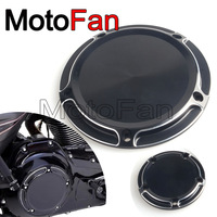 Custom Motorcycle Derby Timer Cover Timing Covers Replacement Black For Harley Davidson Dyna Road King Street