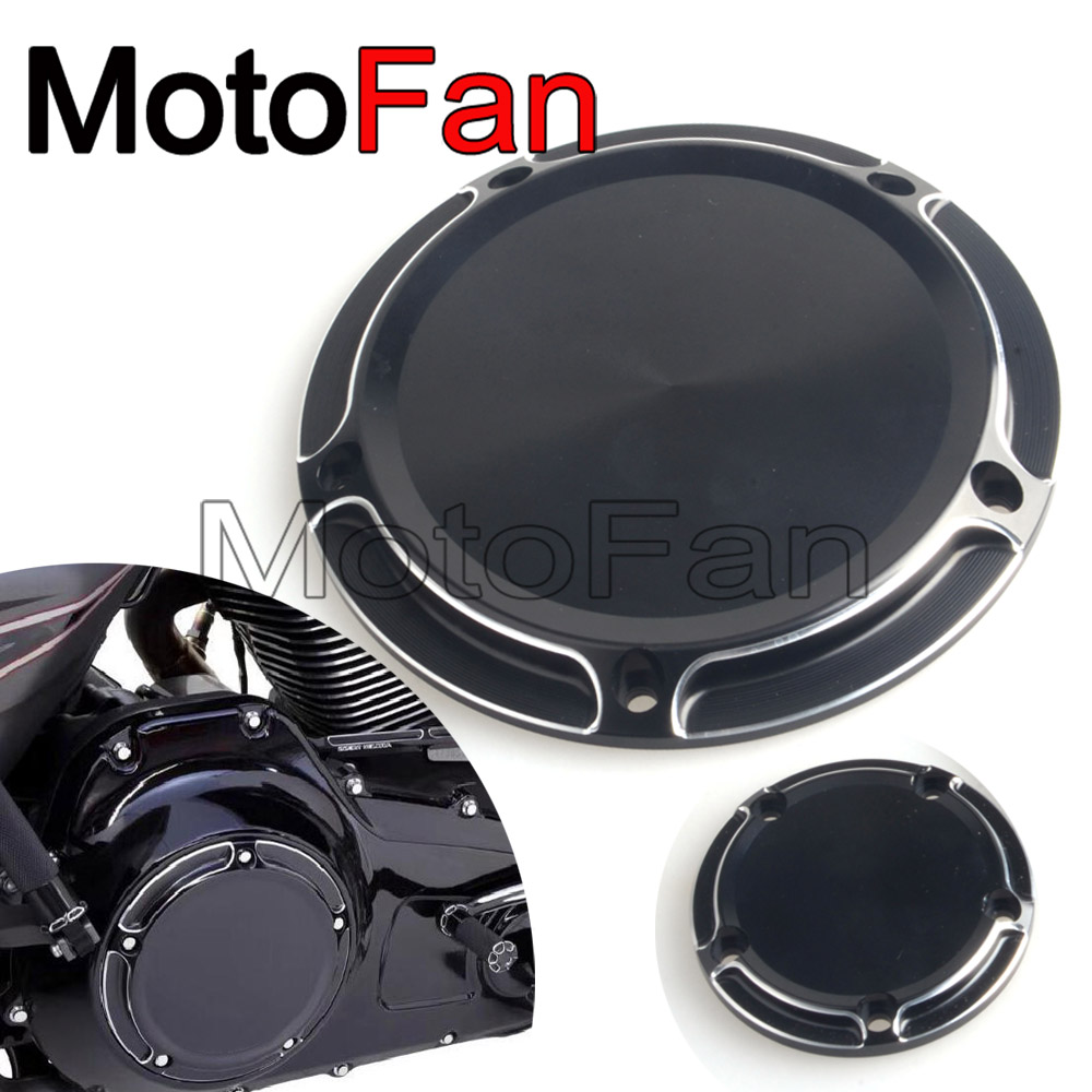 Custom Motorcycle Derby Timer Cover Timing Covers Replacement Black for Harley Davidson Dyna Road King Street Glide Fat Boy CVO 2017 new cnc motorcycle derby timing timer covers cover for harley davidson xlh xl 883 883l 1200c 1200l sportster 883n iron