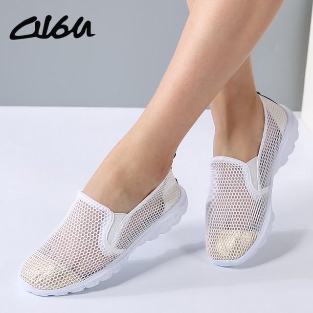 O16U Летняя женская обувь на плоской подошве женские Обувь с дышащей сеткой балетки на плоской подошве женские без шнуровки балетки лоферы на плоской подошве обувь пляжная обувь