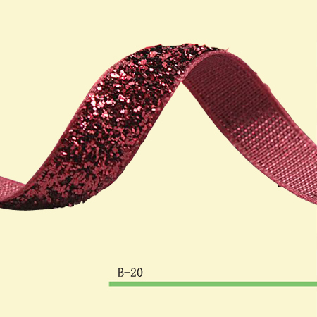 3 4 Headband Ribbon Metallic Velvet Ribbon Shocking Pink Sparkle Ribbon