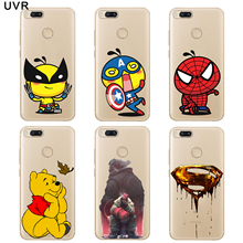 Cool for xiaomi mi a1 5x case cover silicone cartoon superman personality task cute panda classic fashion design phone soft case