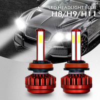 2PCS Automotive LED Headlights New Products R7 Red H8/H9/H11 LED Headlights Super Bright 8000LM Car LED Light