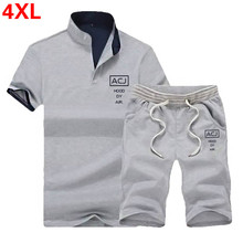 2PC Sets Men Summer Polo Shirt Mens Short Sleeve Polo+Shorts Suit Male Solid Jersey Breathable Top Short Set Fitness Sportsuits цена