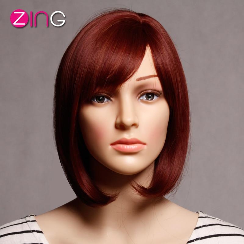 comprar corto peluca roja pelo corto peinados lindo corto cortes de pelo perruque sinttica moda recta mujeres idol pelo pelucas pelucas de with moda de pelo