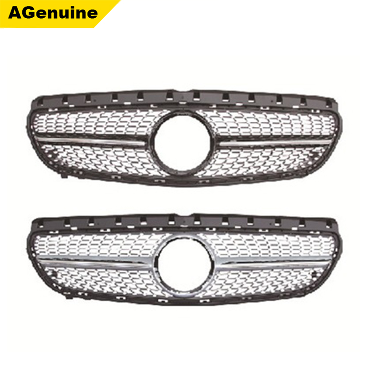 Chrome Auto Front Grill Grille Mesh For Mercedes Benz B