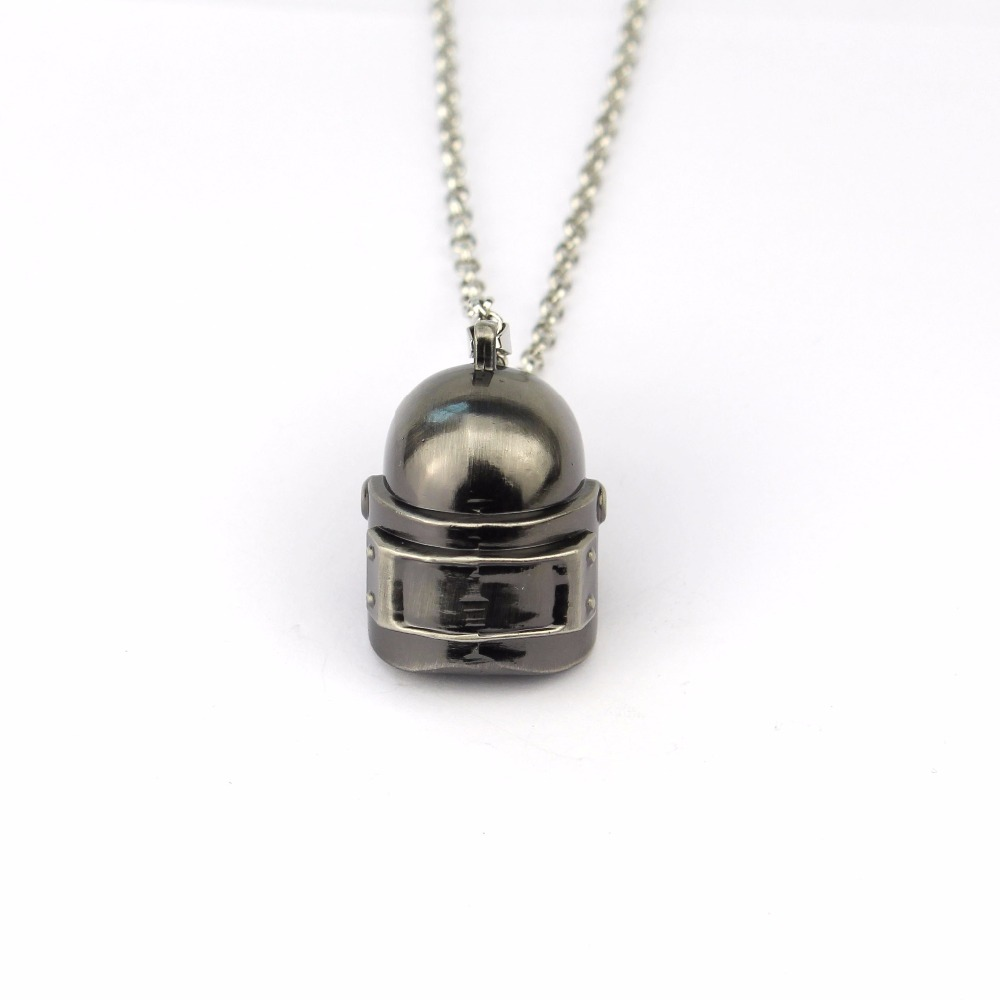 Game PUBG Playerunknowns Battlegrounds Pans series 3D helmet Necklace Pendant keyring Men fashion Jewelry Sweather Chain