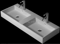 1200mm Corian Under Counter Vessel Sink Rectangular Matt Solid Surface Stone Pre drilled Hole Washasins RS3834 13307
