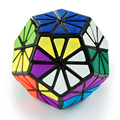 QJ 12 color Pyraminx Crystal Dodecahedron Magic Cube Puzzle  Black Tiled not sticker Type Hot Selling Educational Twity Toy
