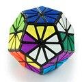 QJ 12 cores Pyraminx Cristal Dodecaedro Magic Cube Enigma Preto Azulejos não adesivo Tipo Venda Quente Brinquedo Educacional Twity