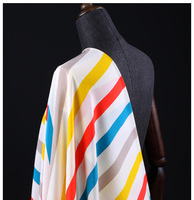 115cm colorful rainbow print silk crepe de chine fabric for dress