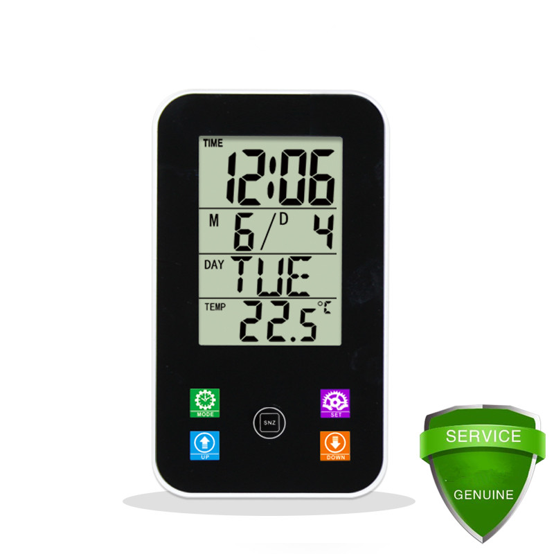 JIMEI H118 Touch button small Multifunction LCD Display alarm thermometer and hygrometer clock