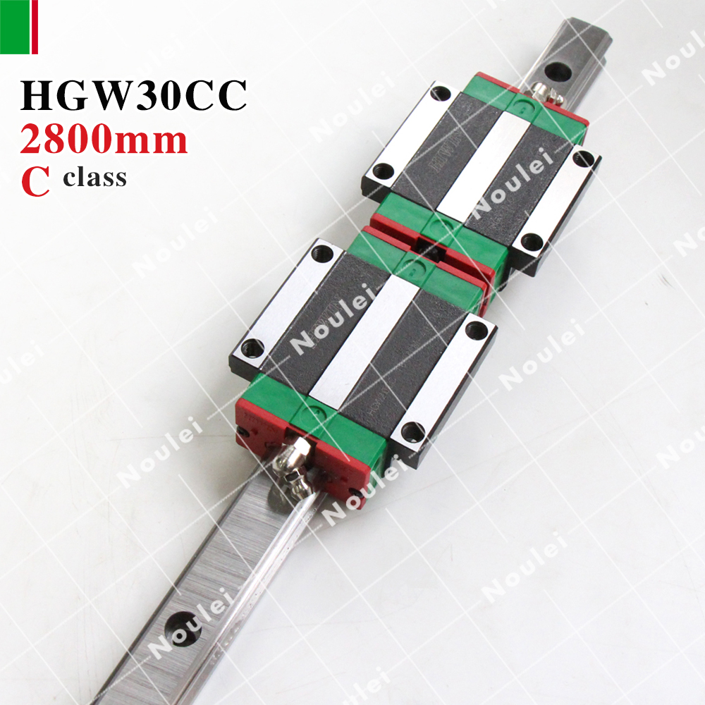 где купить HIWIN HGW30CC slider with HGR30 2800mm linear guides rails of High efficiency CNC sets HGW30 дешево