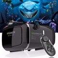 ¡ Caliente! 2017 google cartón vr shinecon pro versión vr realidad virtual gafas 3d + bluetooth inteligente de control remoto inalámbrico gamepad