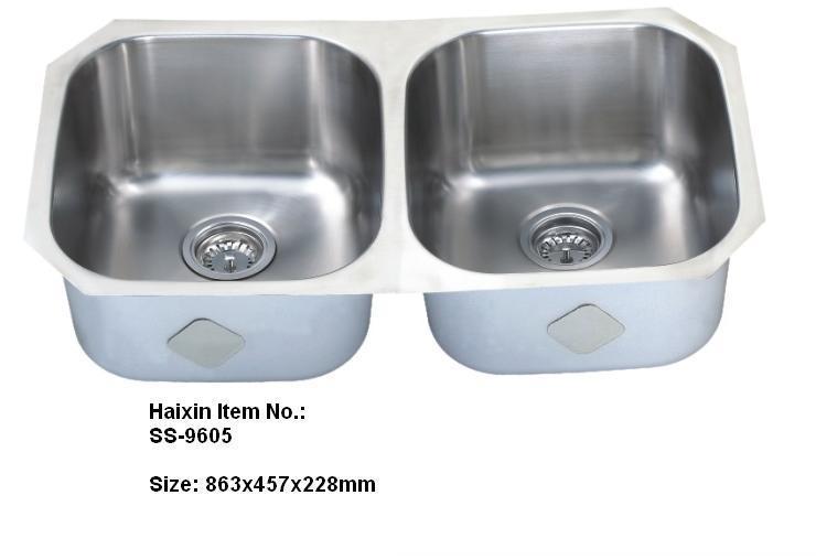 304 Stainless Steel Double Bowl Kitchen Sinks undermount Rectangular sink  small double kitchen sink 813*