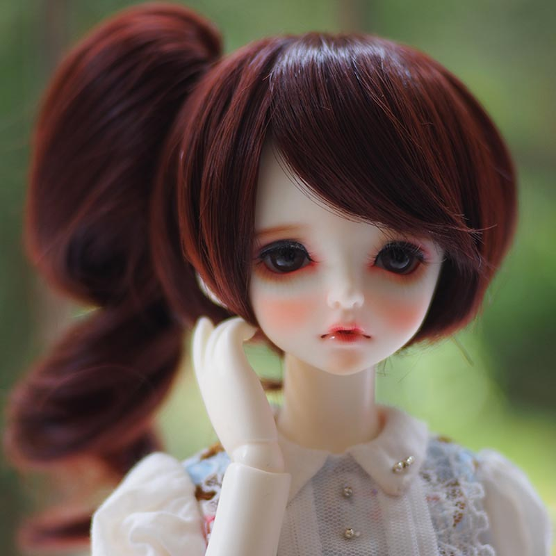 1/3 1/4 1/6 Bjd SD Doll Wig Wire High Temperature BJD Doll Hair Wig Free Shipping