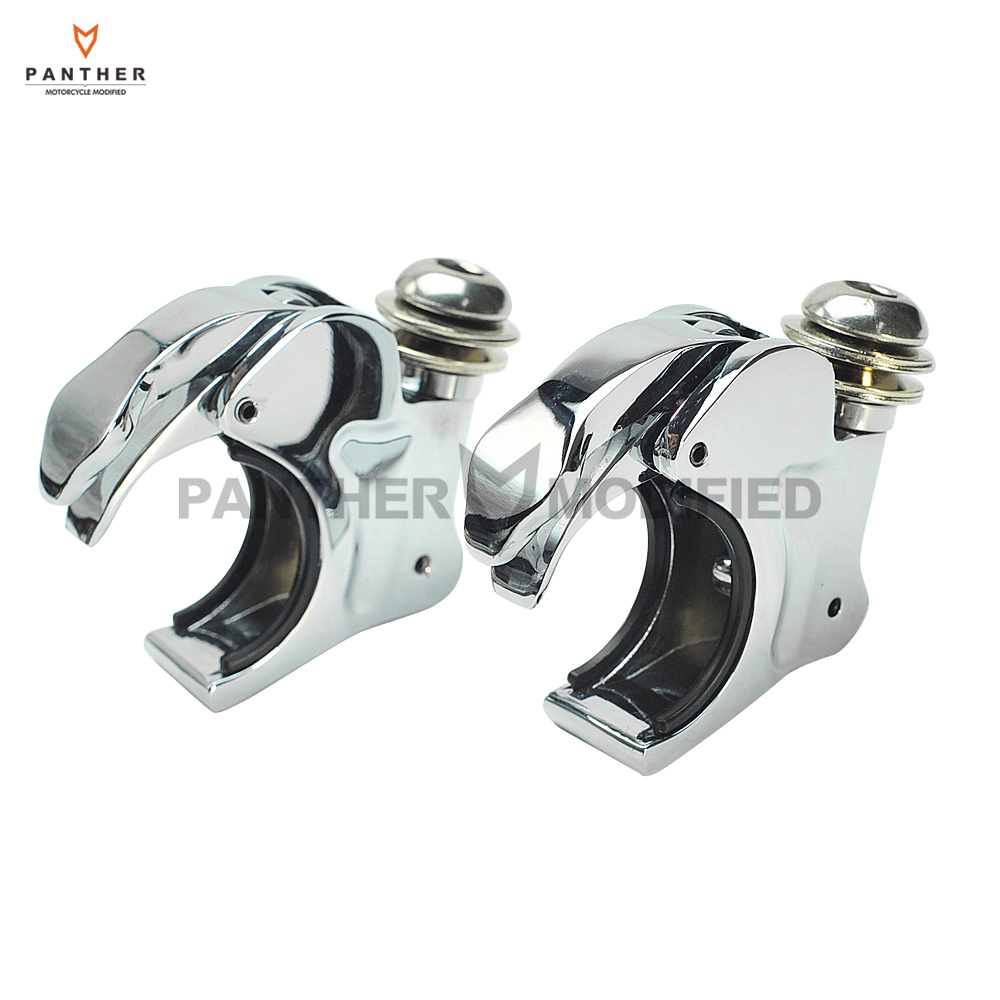 1Pair 41mm Motorcycle Windscreen Clamps Moto Front Windshield Bracket mounting case for Harley Dyna Sportster XL 883 1200