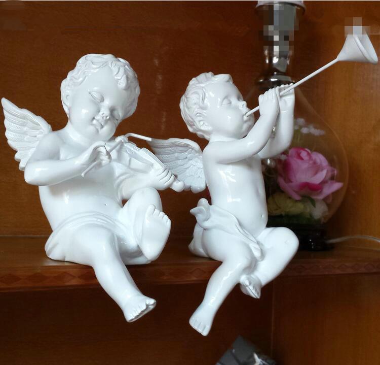 adornos de navidad ngel cupido decoracin adornos de jardn estatuilla de resina para el